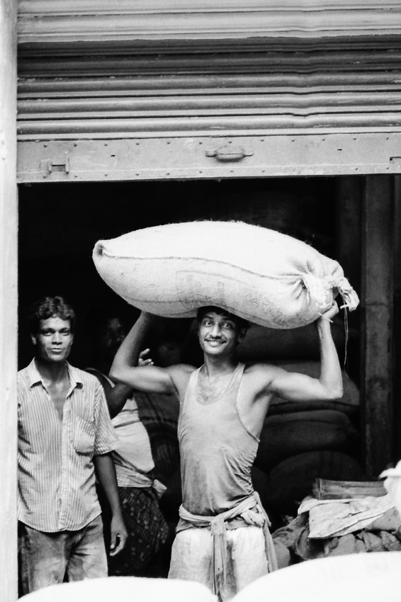Man carrying burden