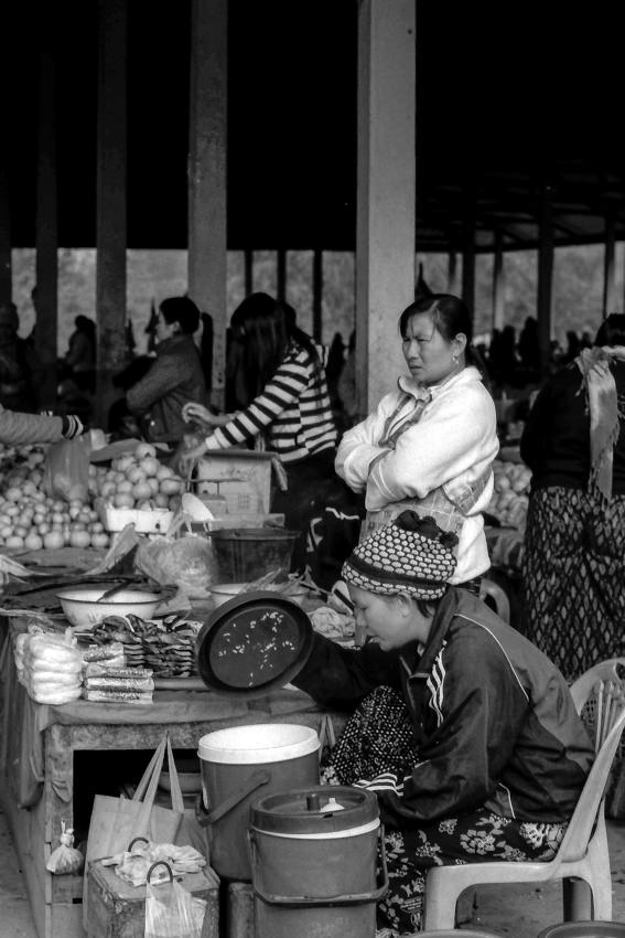 Women working in market