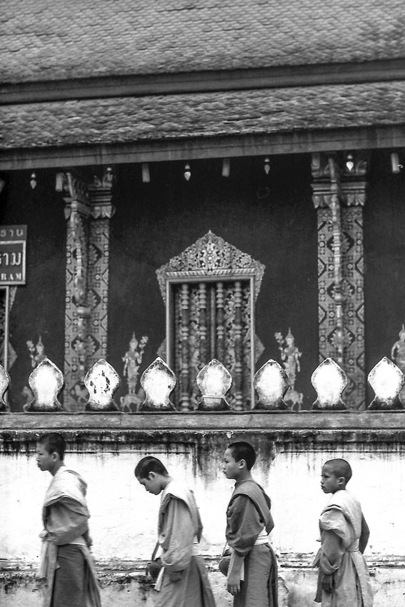 Line of monks