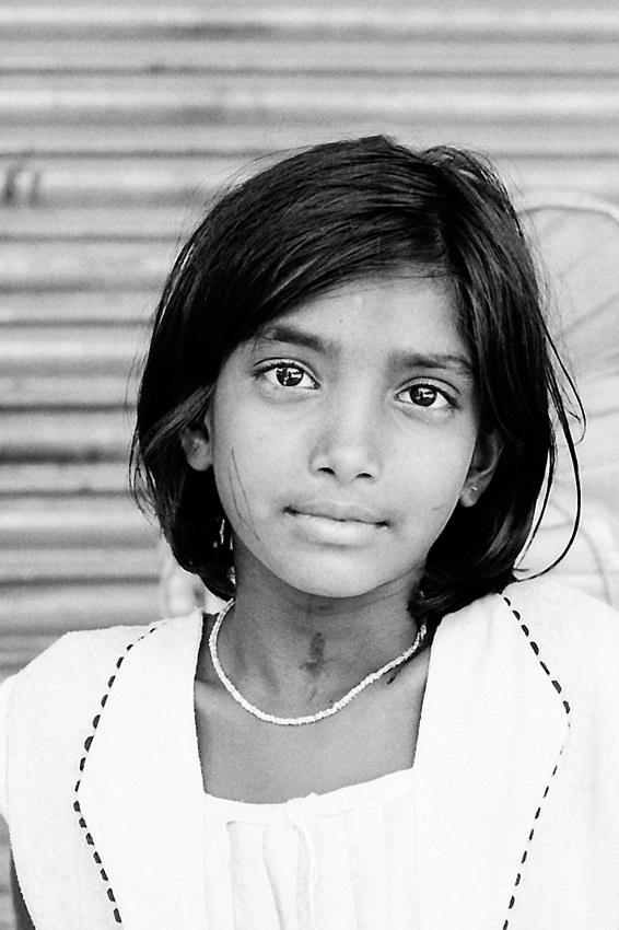 Girl with shining eyes