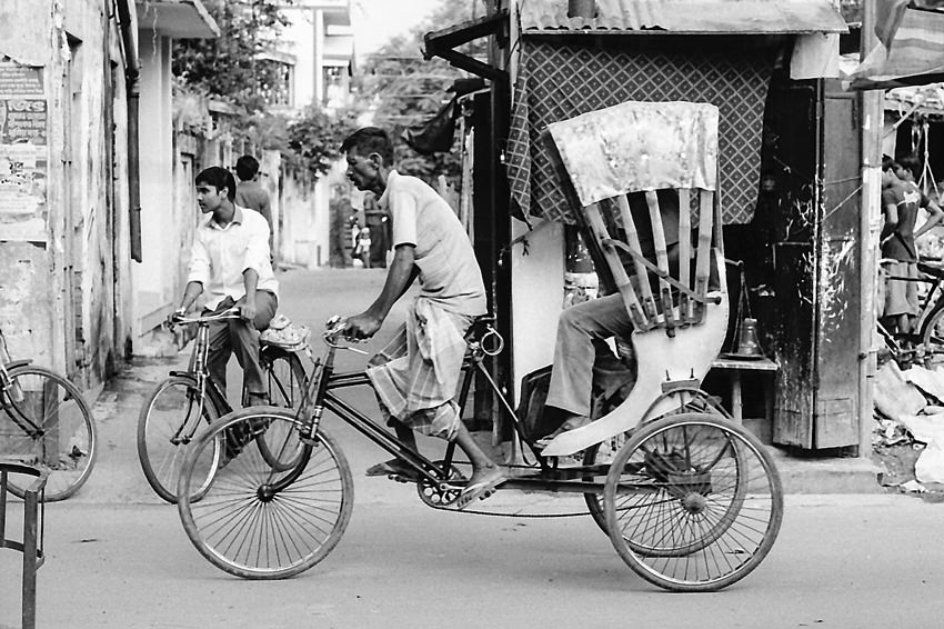 Coursing cycle rickshaw
