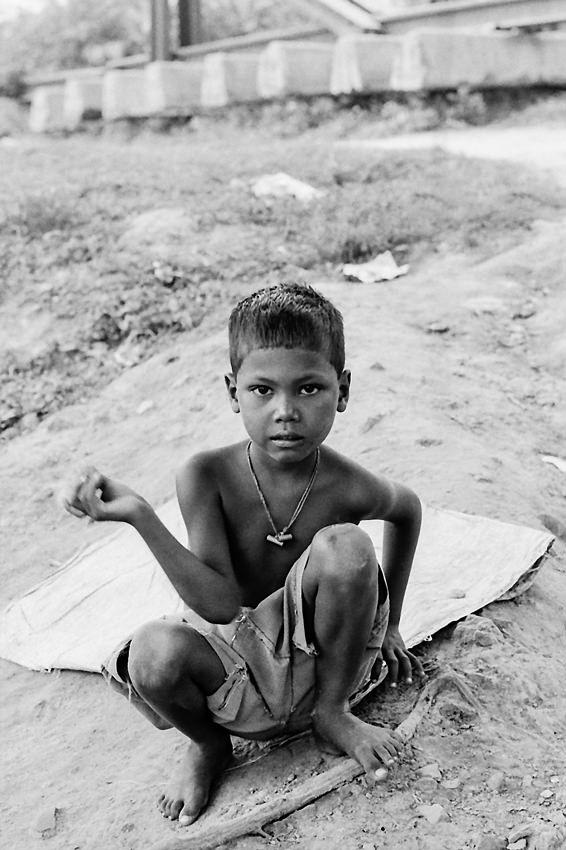 Boy by the railway