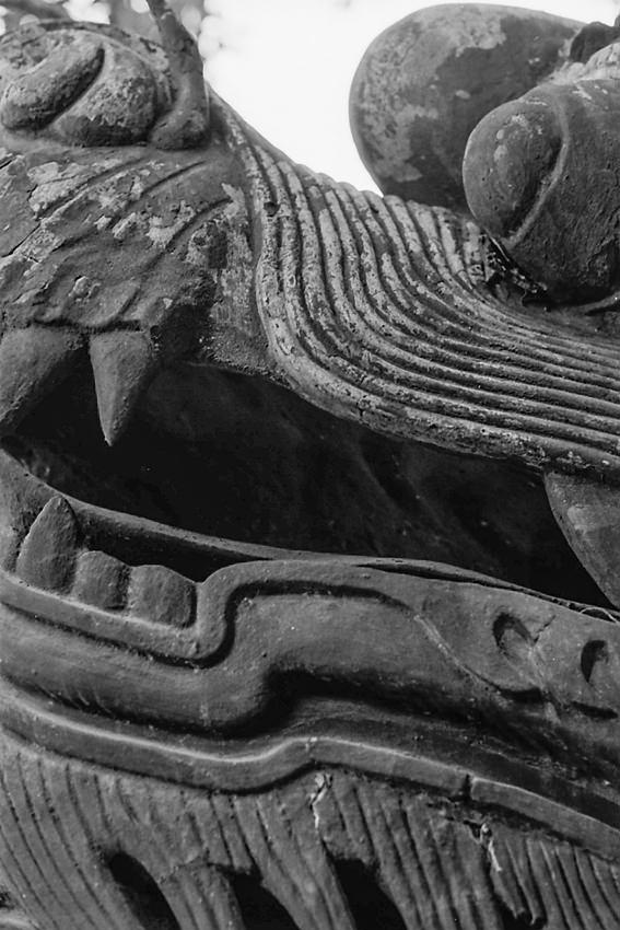 豫園の龍の頭