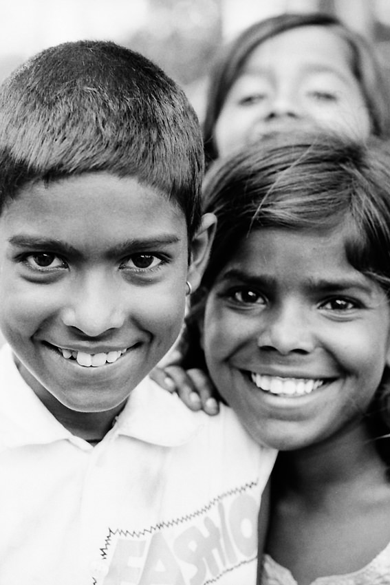 Smiles of boy and girl
