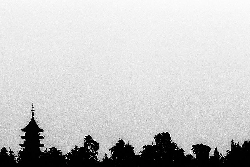 Silhouette of Ruiguang Pagoda