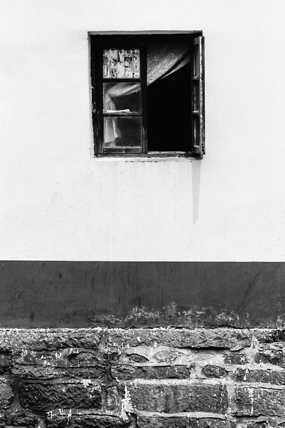 Half-opened window