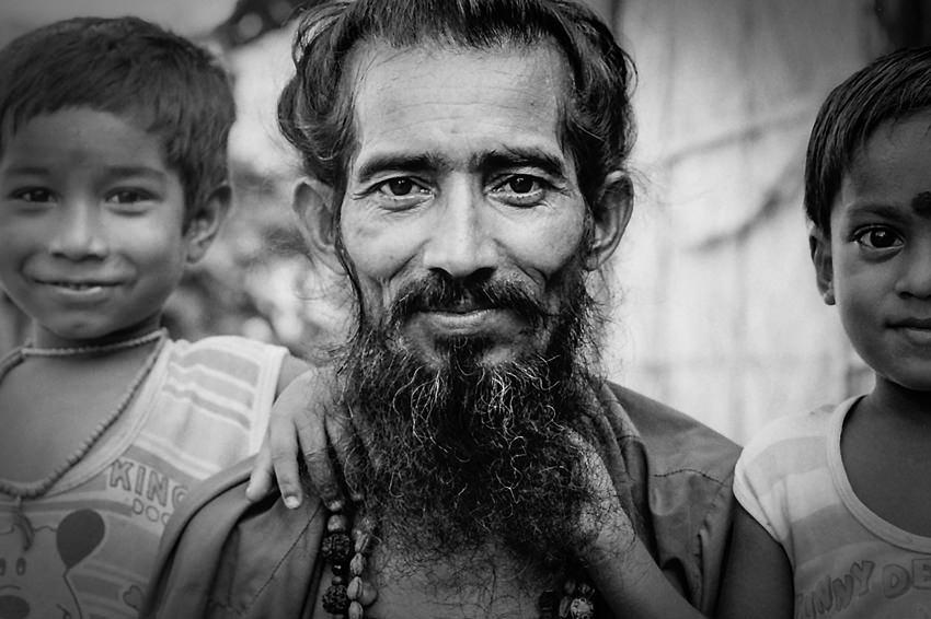 モジャモジャの髭の男