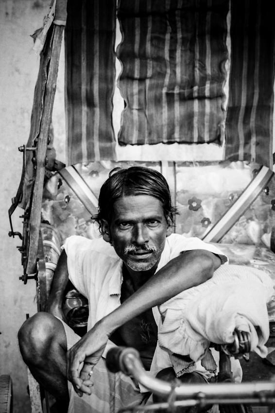 Well-coiffed rickshaw wallah