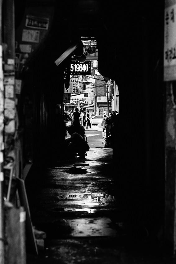 Dim passage in Suwon