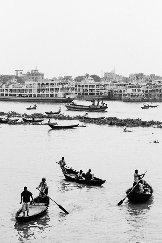 Small boat on Buriganga River