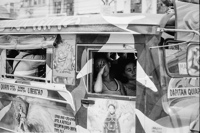 Catnappers on the jeepney