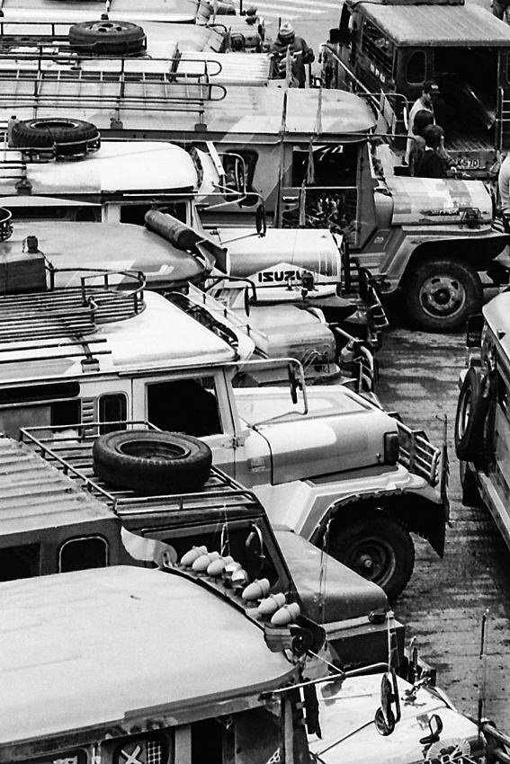 Cluster of jeepneys