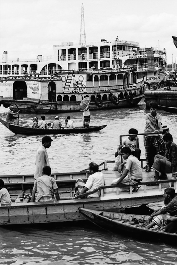 Many boats in Buriganga River