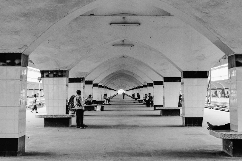 Long platform of Kamalapur Station