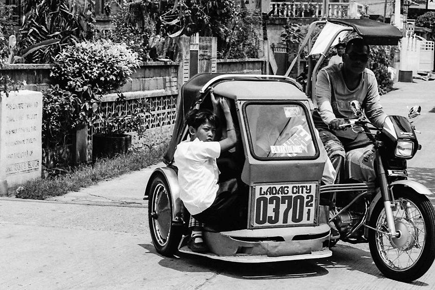 Overloaded trishaw
