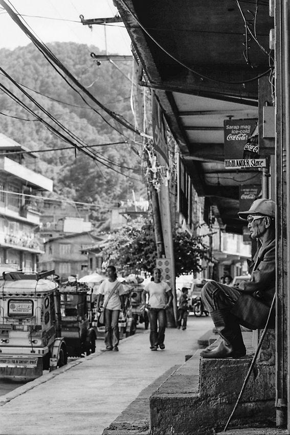 Man watching traffic