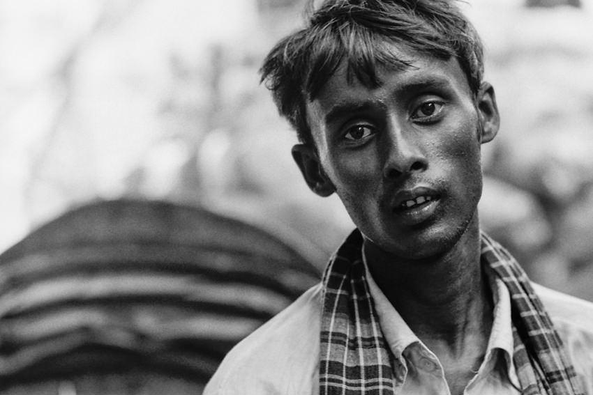 Face of rickshaw wallah