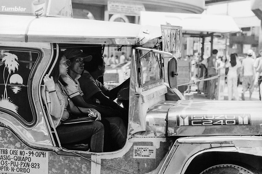 Front seat of jeepney