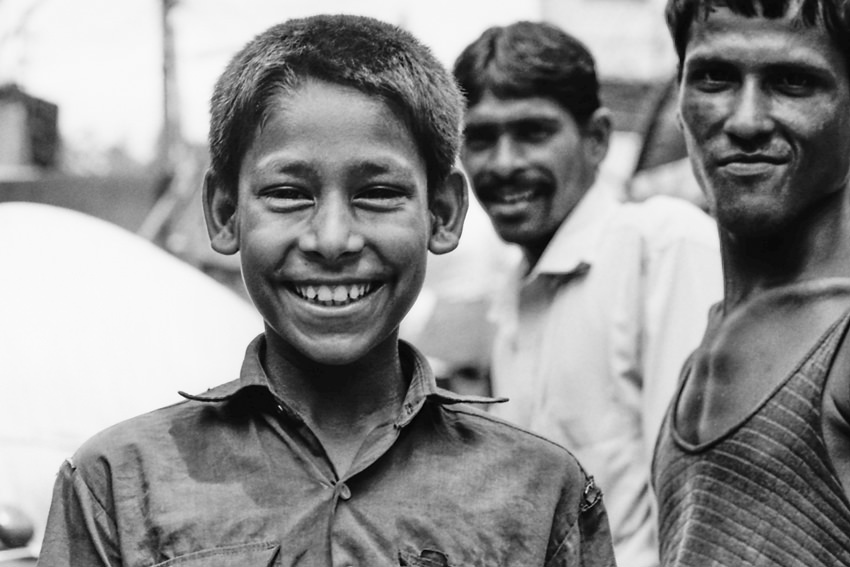 Boy with great big smile