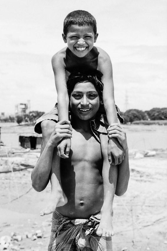 Boy carrying on shoulder