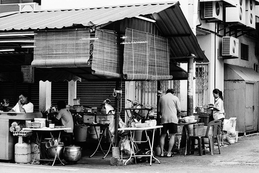 Food stall in afternoon