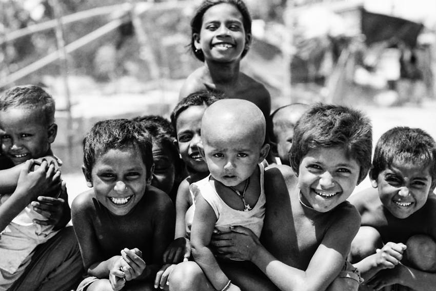 Frown among smiles