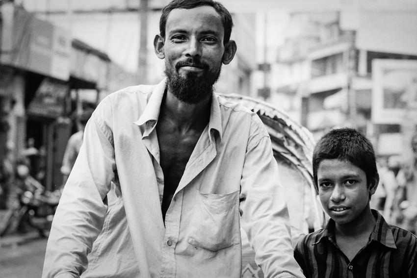 Rickshaw wallah and boy