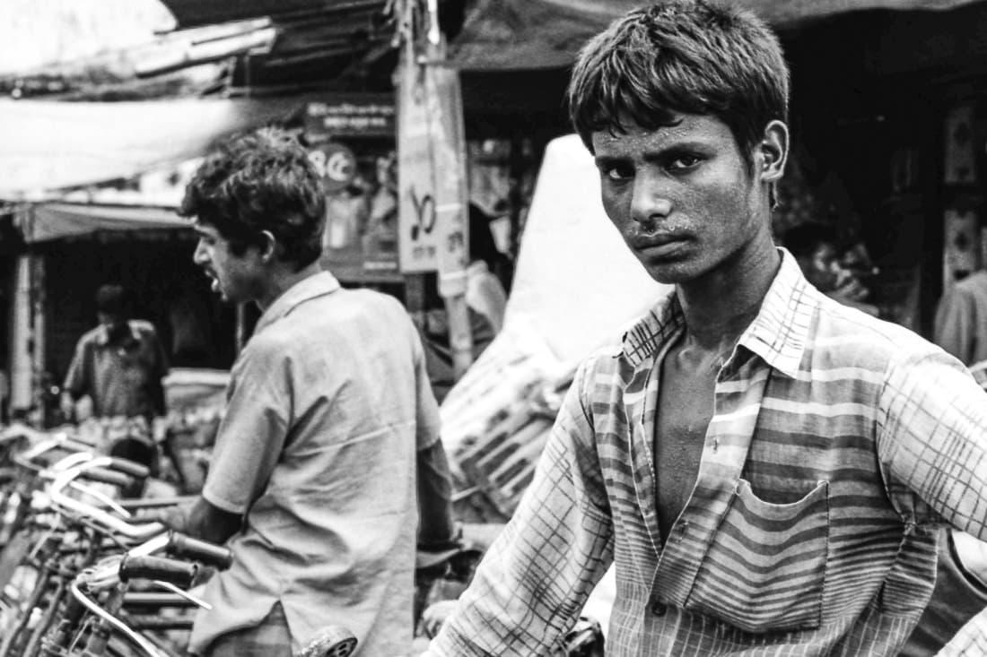 Suspicious eye of rickshaw wallah