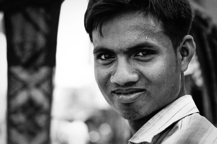 Rickshaw wallah with sharp eyes