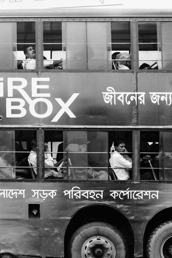 Double decker bus in Dhaka