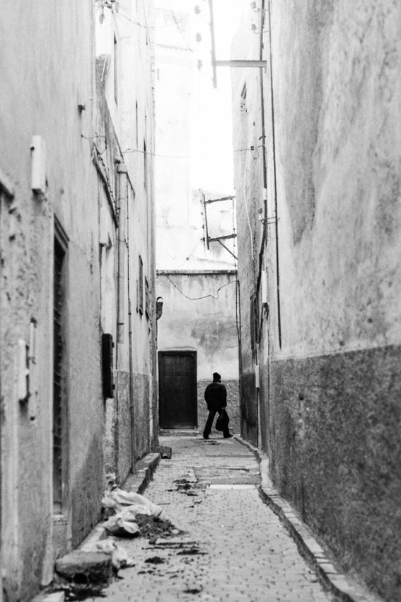 Deserted lane in old quarter of Fez