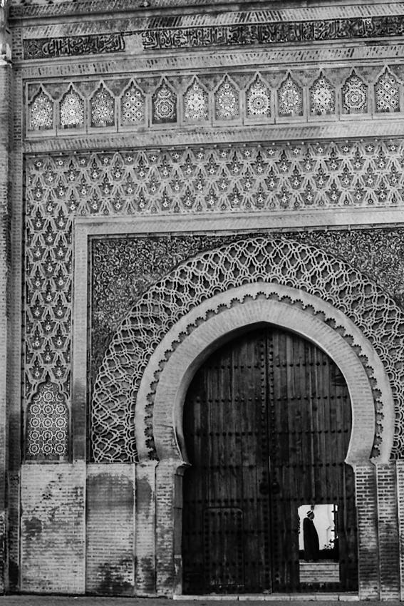 Decorative gate in Meknes