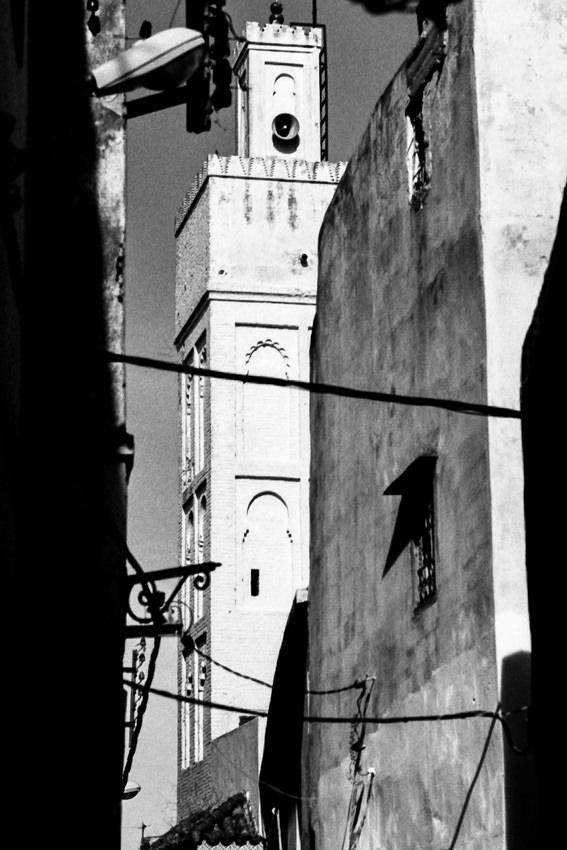 旧市街の四角いミナレット