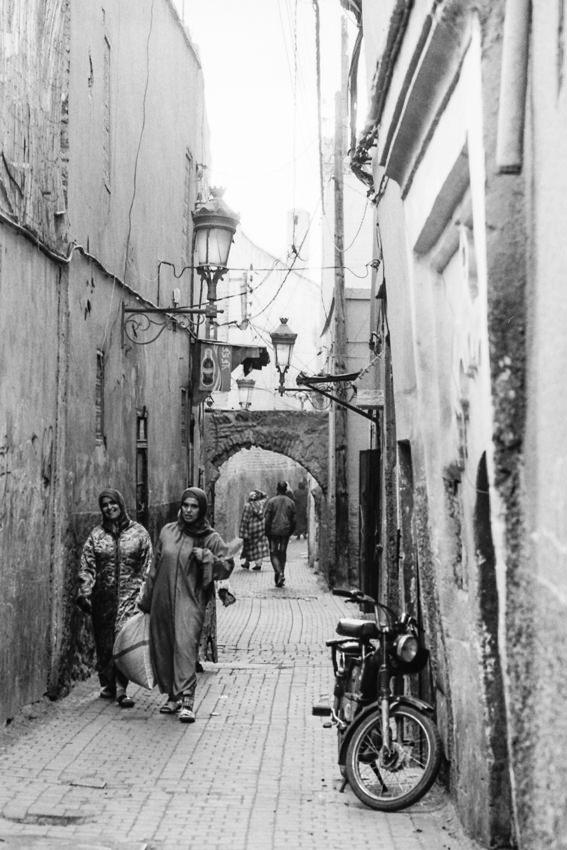 Women walking lane