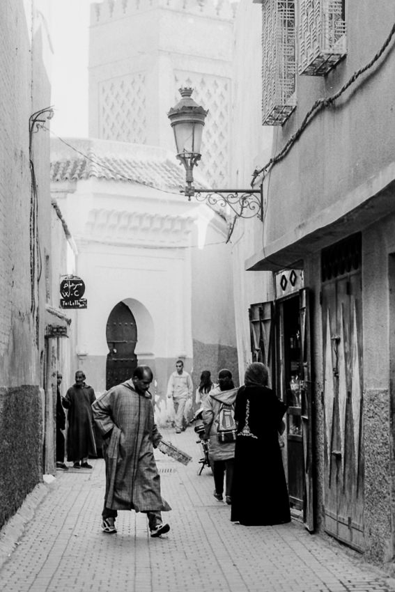 Alleyway with view of minaret