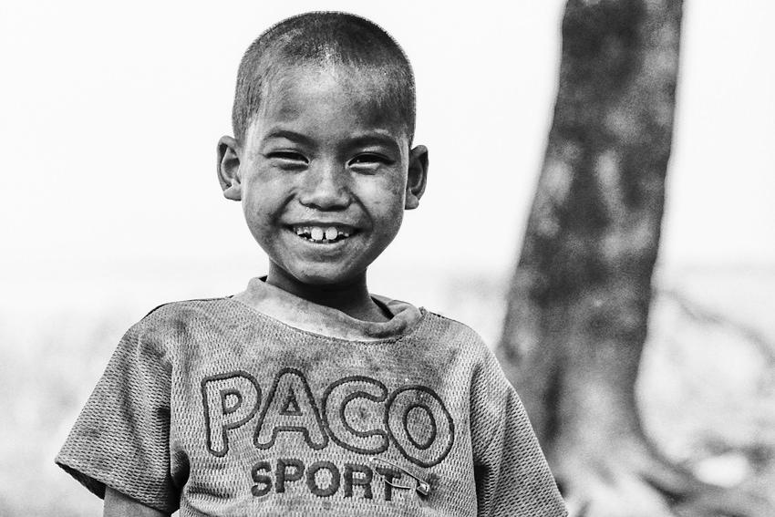 Boy smiling without hesitation