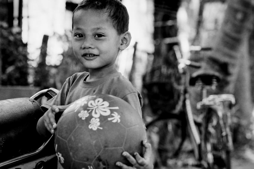 Boy holding ball