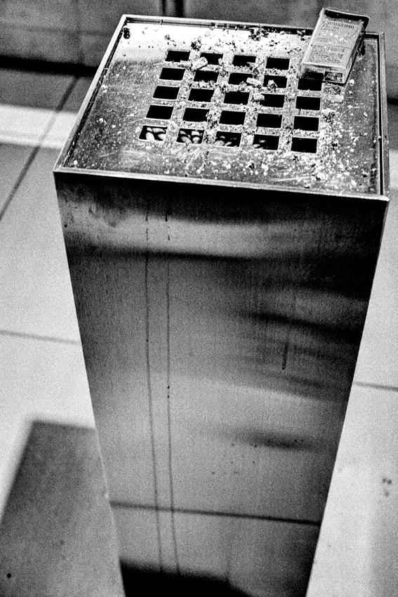 Tower-like ashtray