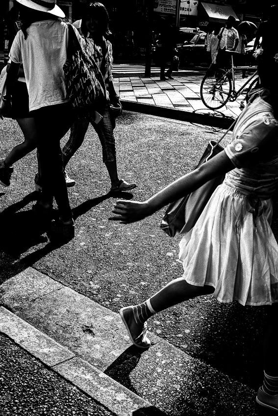 Girl passing