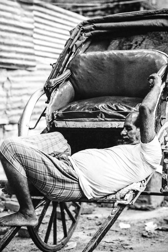 Rickshaw sleeping