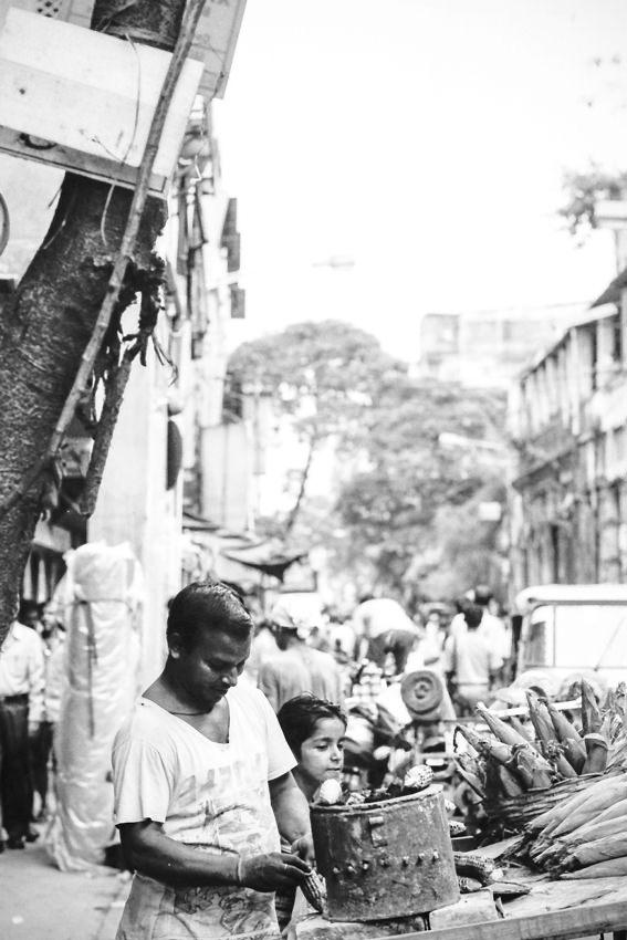 street vendor and brazier