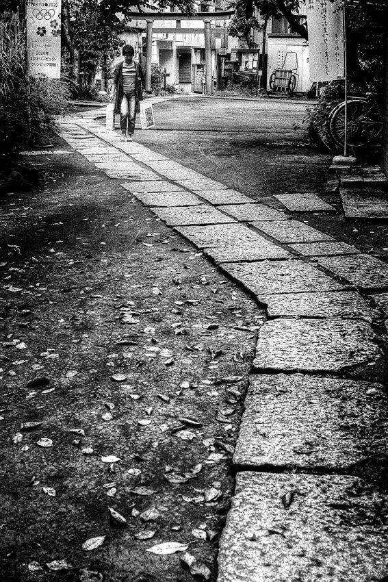 Figure walking approach way