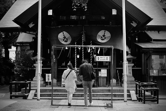 波除神社のカップル