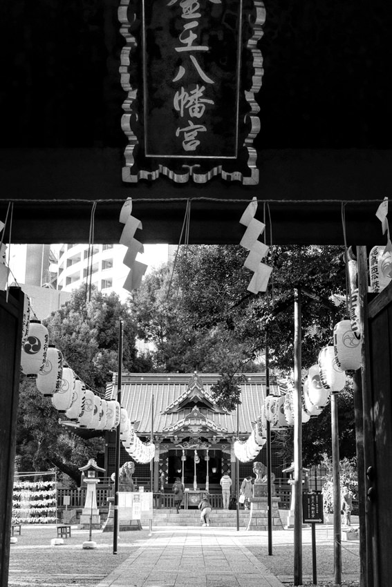 Entrance of Shinto shrine