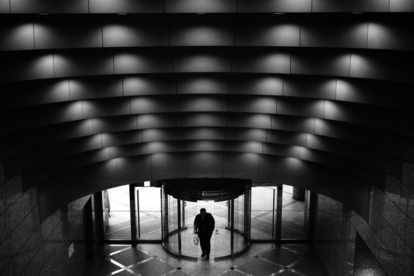 Silhouette at entrance
