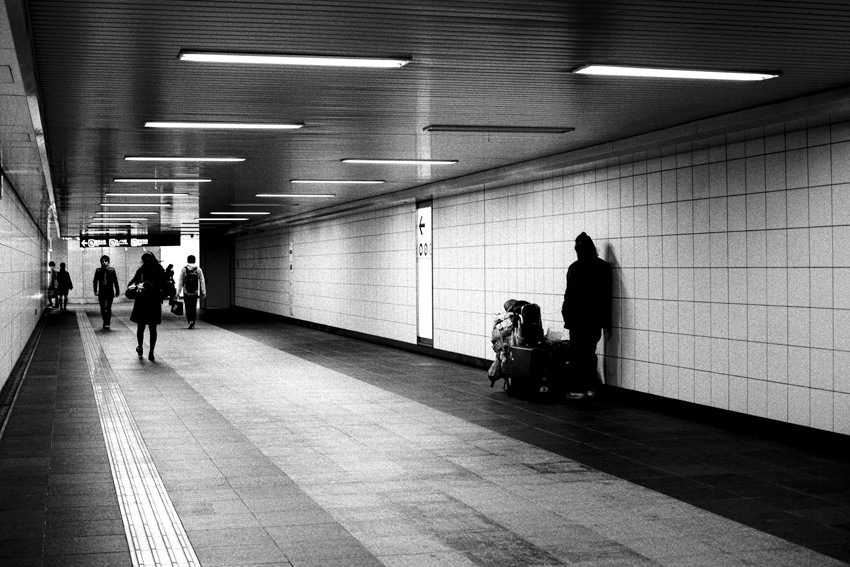 Pedestrian subway in Shinjuku