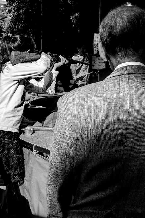 Young girl shooting