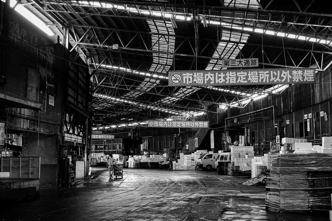 Wide passage in Tsukiji Market
