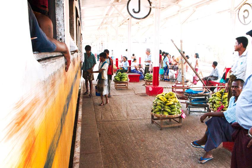 Bananas on  platform