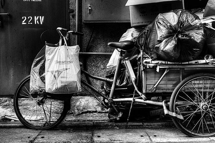 満載の自転車